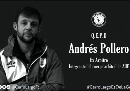 Fue asesinado el árbitro de fútbol Andrés Pollero