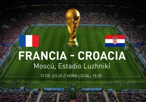 Francia - Croacia, la gran final este domingo a las 12 horas