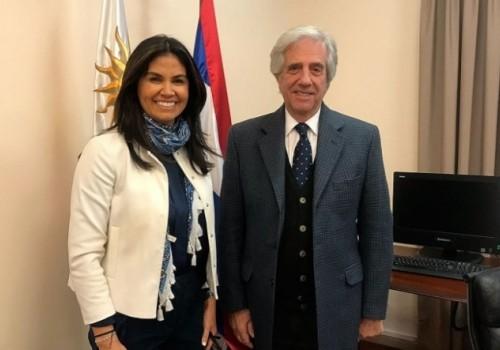 El presidente Vázquez recibió a la senadora Verónica Alonso