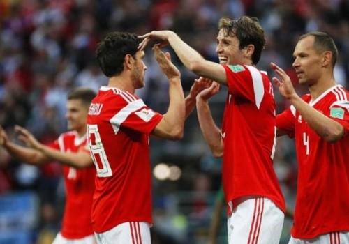 Rusia superó a Egipto por 3 a 1